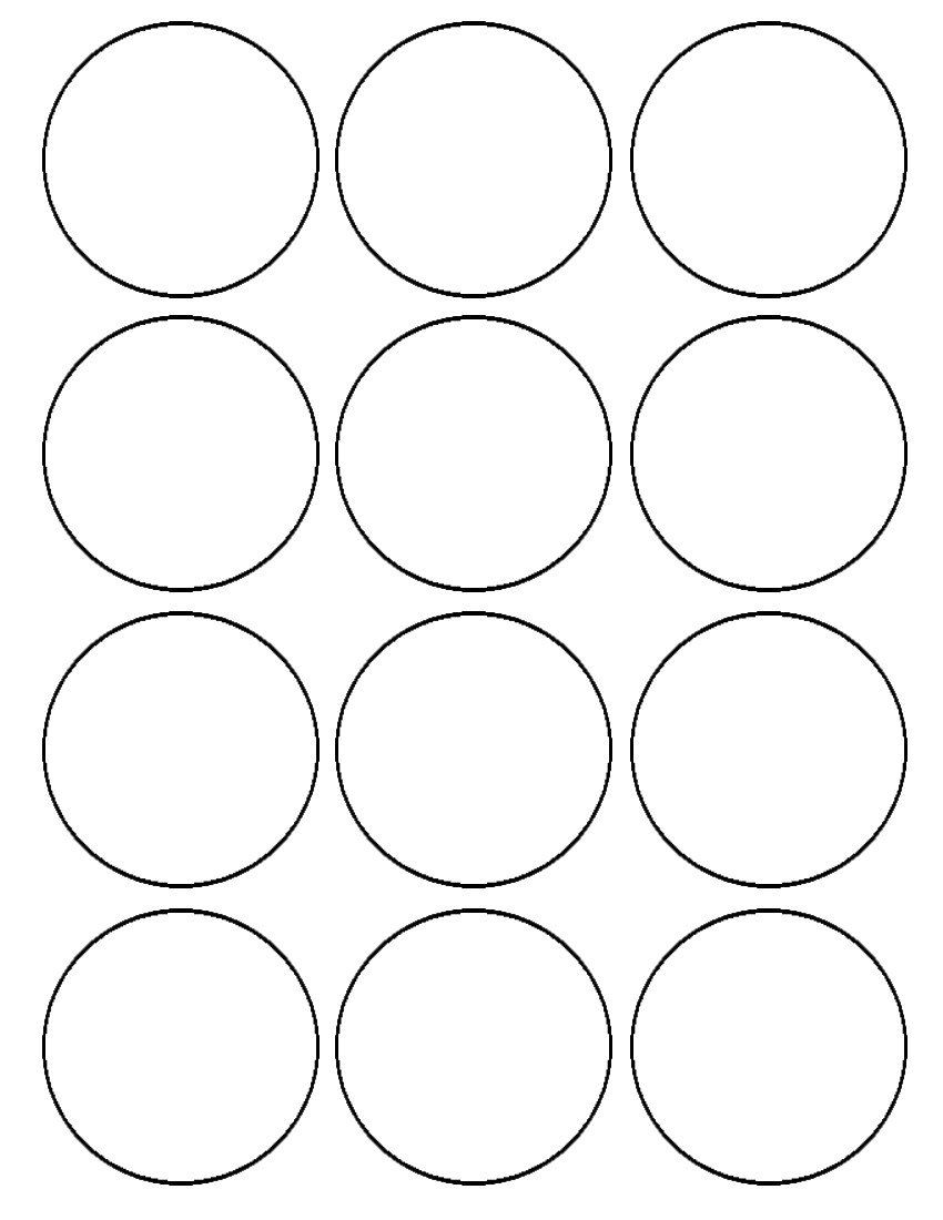Edible Images Custom Printable Circles Circle Template Templates Printable Free