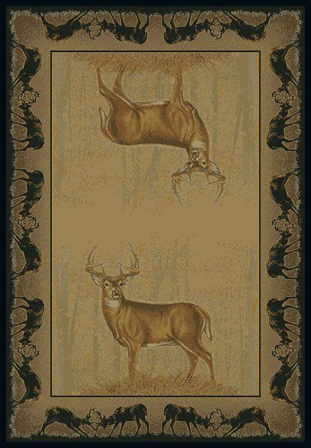 Buck Wear Believe Deer Rug Collection By United Weavers