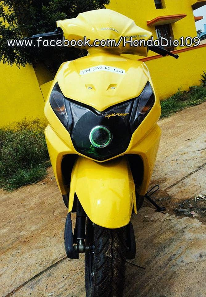 Yellow Honda Dio Modified In Kerala image 93 Extras Honda, Bike