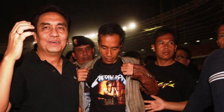 Jokowi concert metallica