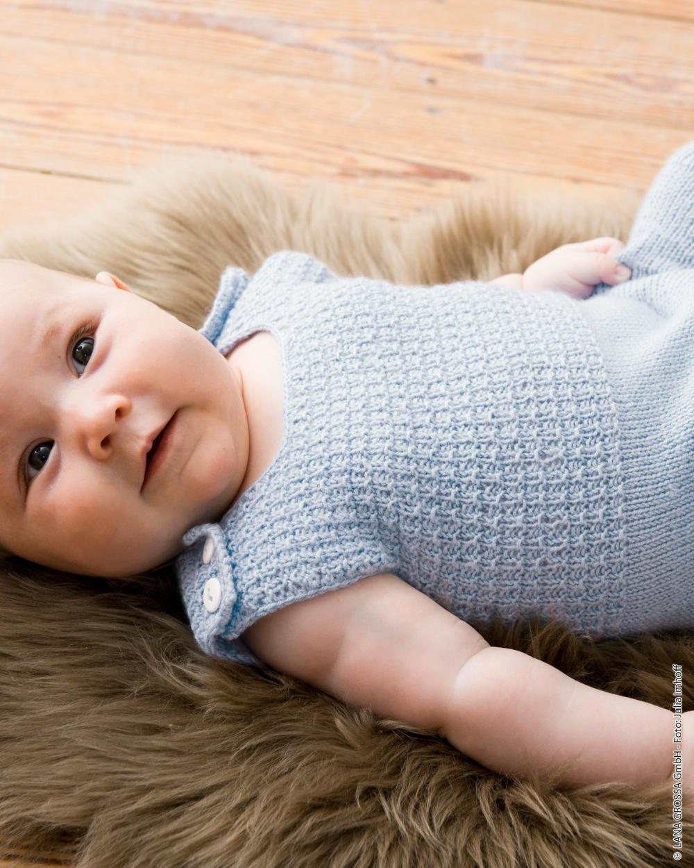 Models Cool Wool Baby Romper Lana Grossa In 2020 Baby Strampler Strickanleitungen Kostenlose Strickmuster