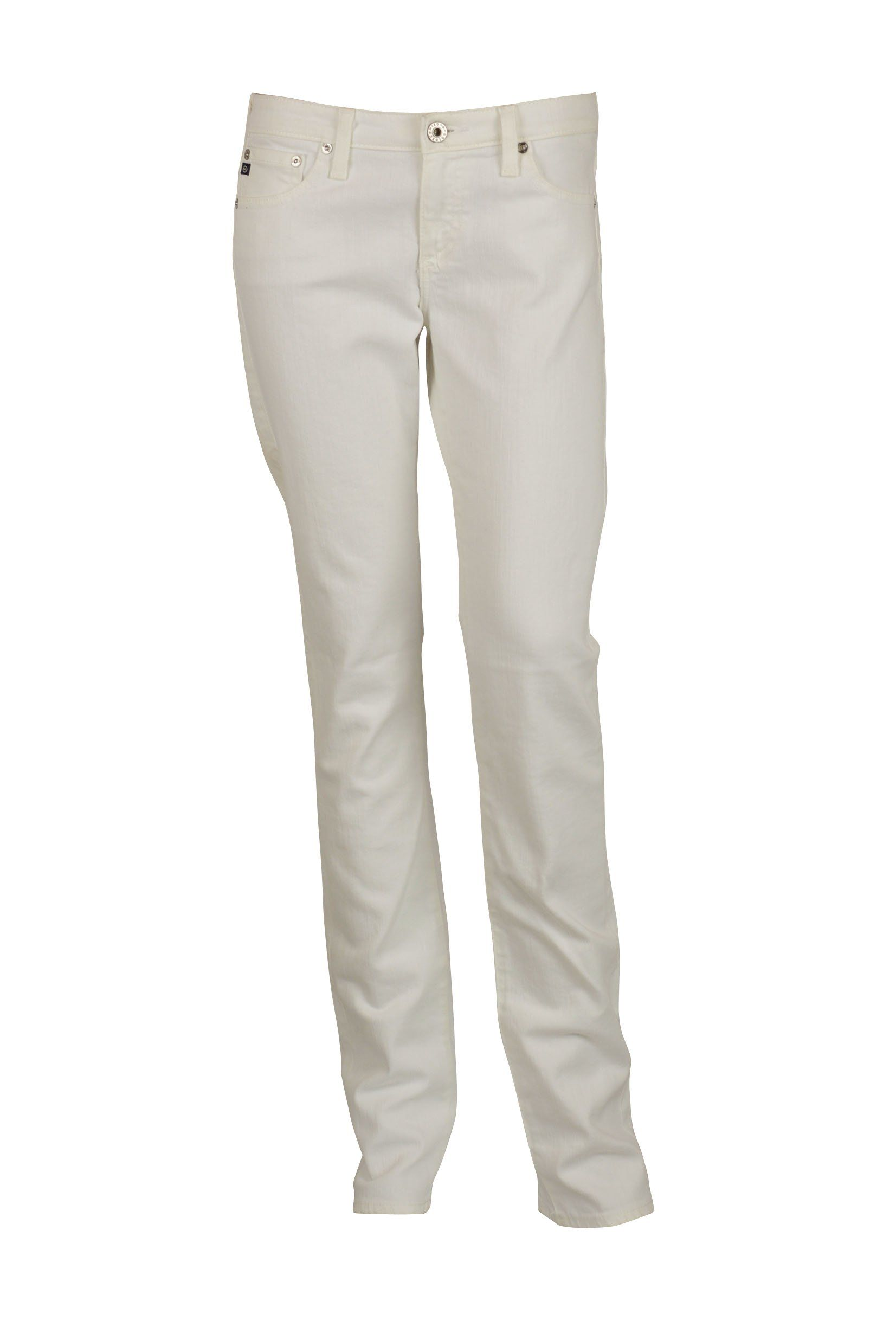 AG Adriano Goldschmied Womens White Charlotte Straight Leg Jeans 24. The Charlotte Straight Leg. 98% Cotton, 2% EA. Machine Wash. AG Adriano Goldschmied.