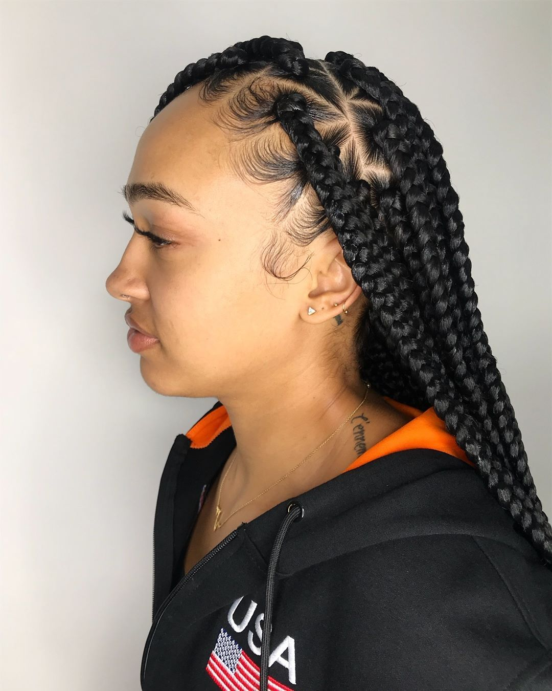 jumbo box braids on @miss_bovero 😍❤️ click the link in my