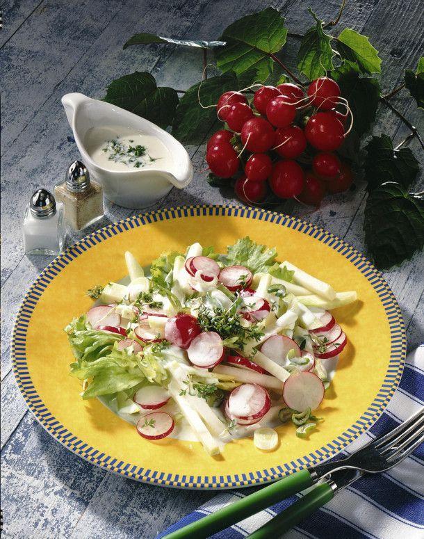 Unser beliebtes Rezept für Frühlingssalat und mehr als 55.000 weitere kostenlose Rezepte auf LECKER.de.