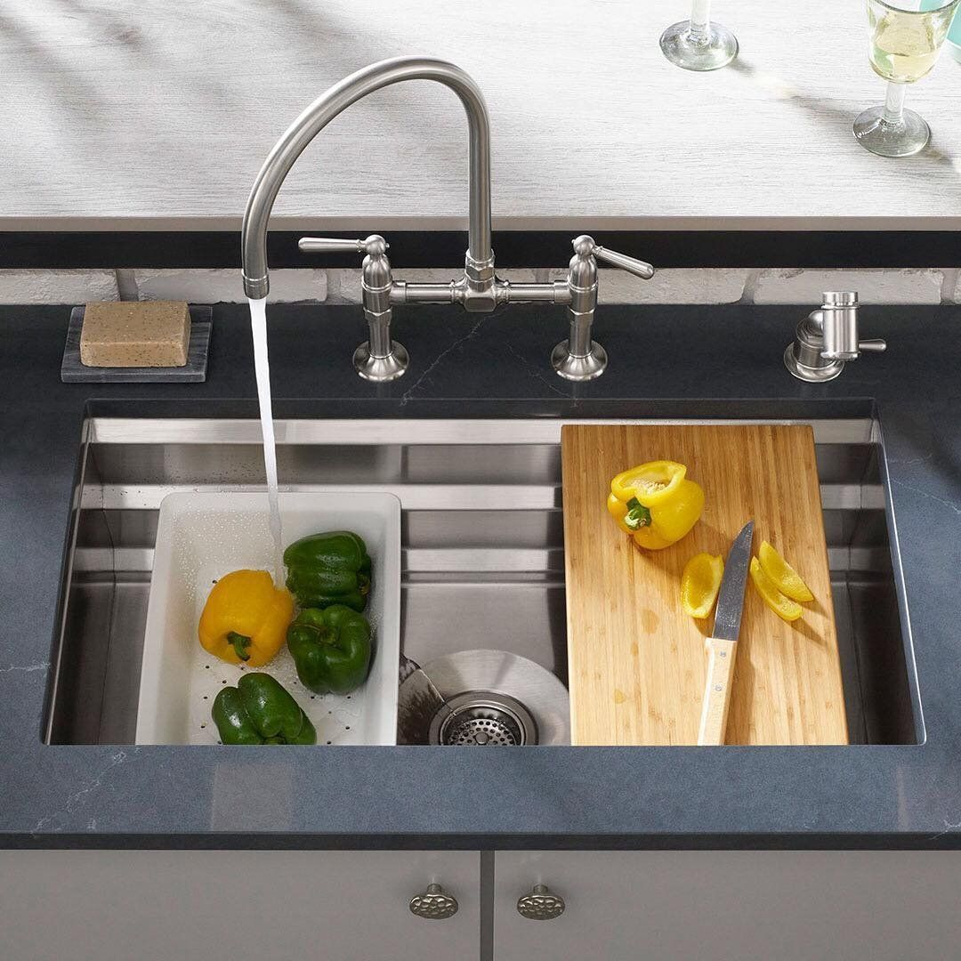 Fancy Kohler Prolific Undermount Kitchen Sink Single Bowl Kitchen Sink Undermount Kitchen Sinks Deep Sink Kitchen