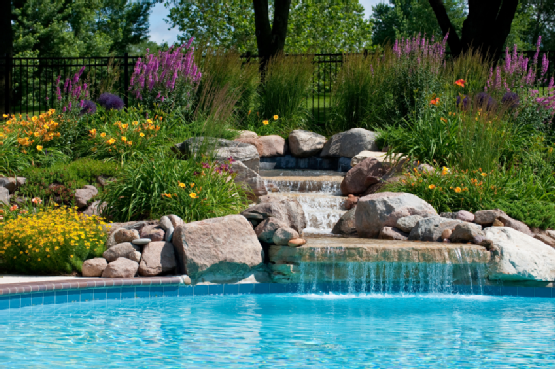 Inground Pool Landscaping Ideas Pools Jackson Paradise Spas