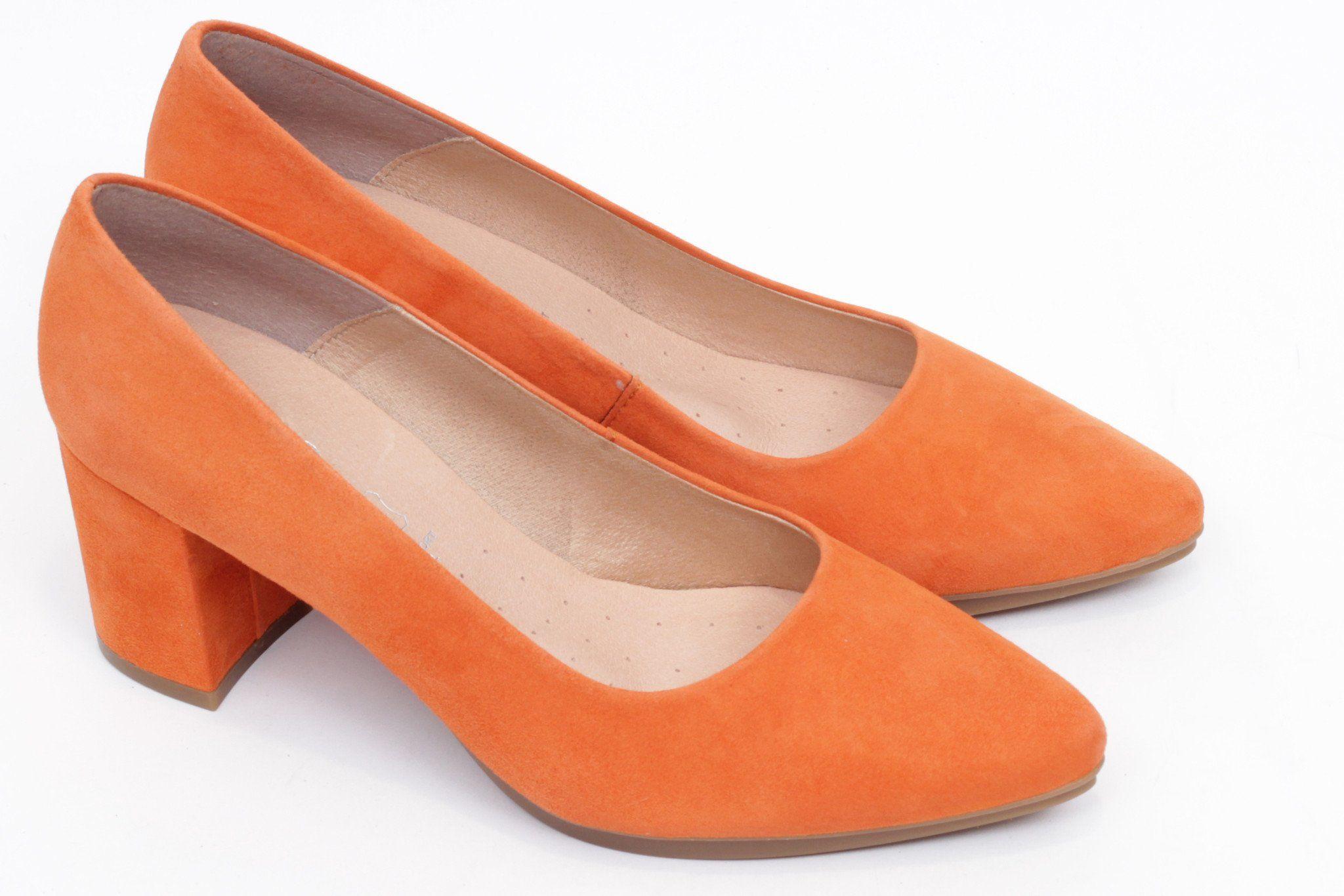 miMaO Urban S naranja - Zapato mujer de tacon salon vestir rojo cómodo -  women high heels shoes red orange comfort pumps 586b2b2034f9
