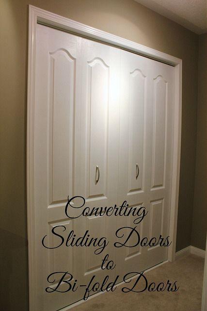 Converting Sliding Doors To Bi Fold Doors Sliding Mirror Closet Doors Closet Door Makeover Sliding Doors Interior