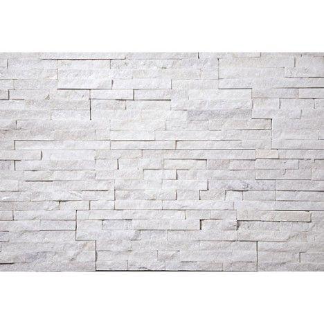 plaquette de parement petra en pierre naturelle blanc. Black Bedroom Furniture Sets. Home Design Ideas