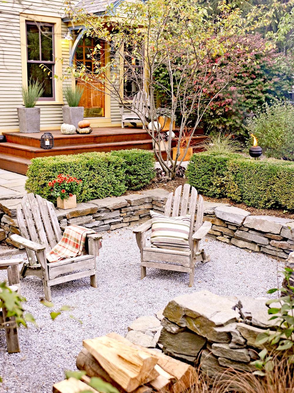 38+ Backyard pea gravel patio ideas information