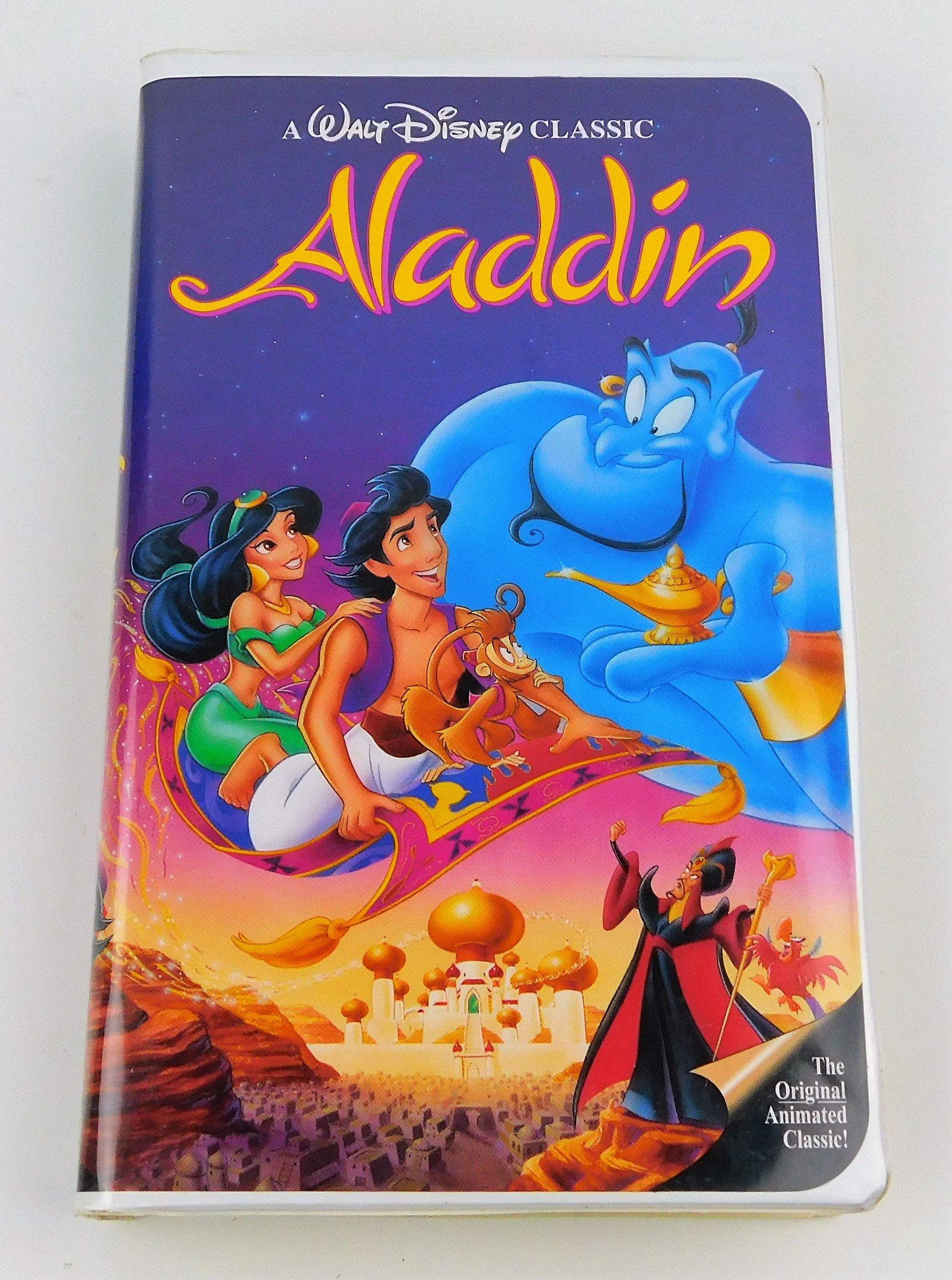 Aladdin Vhs 1993 Black Diamond Edition Etsy Autograph Book Disney Aladdin Disney Aladdin