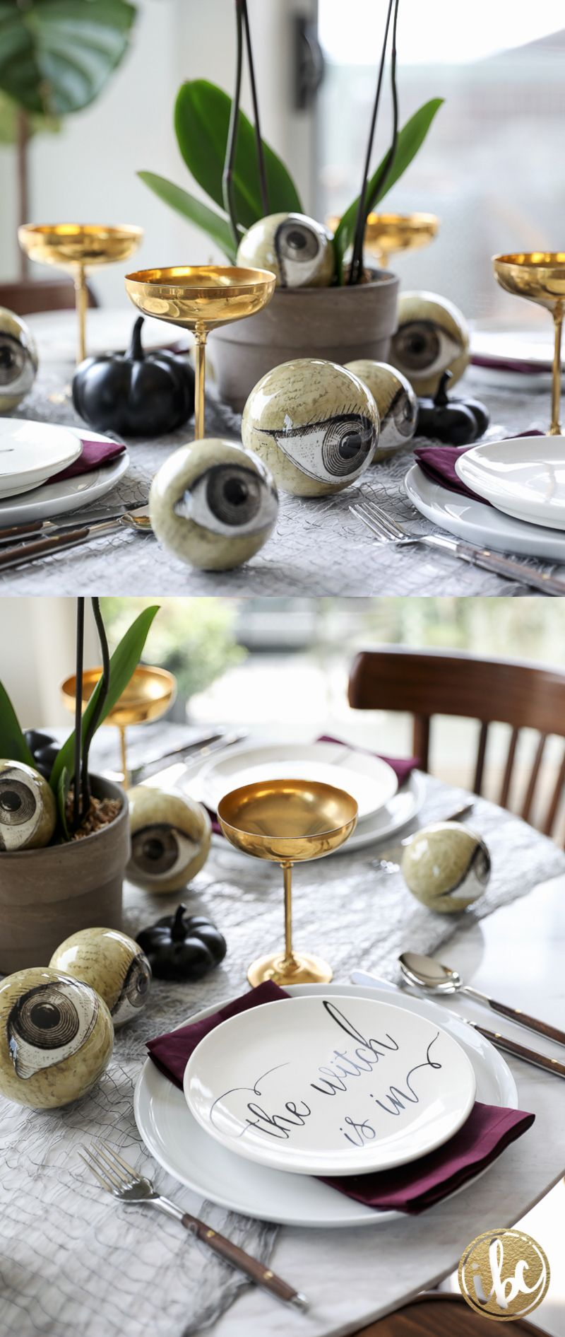 Wicked and Eclectic Halloween Table Setting Halloween table