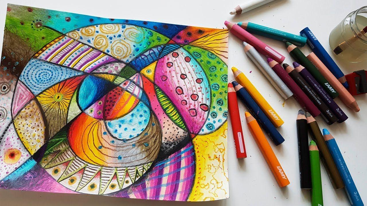 Playful Intuitive Drawing Verspielte Intuitive Zeichnung