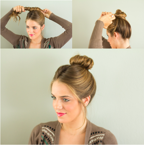 i will have long hair again and i will try this top knot tutorial.