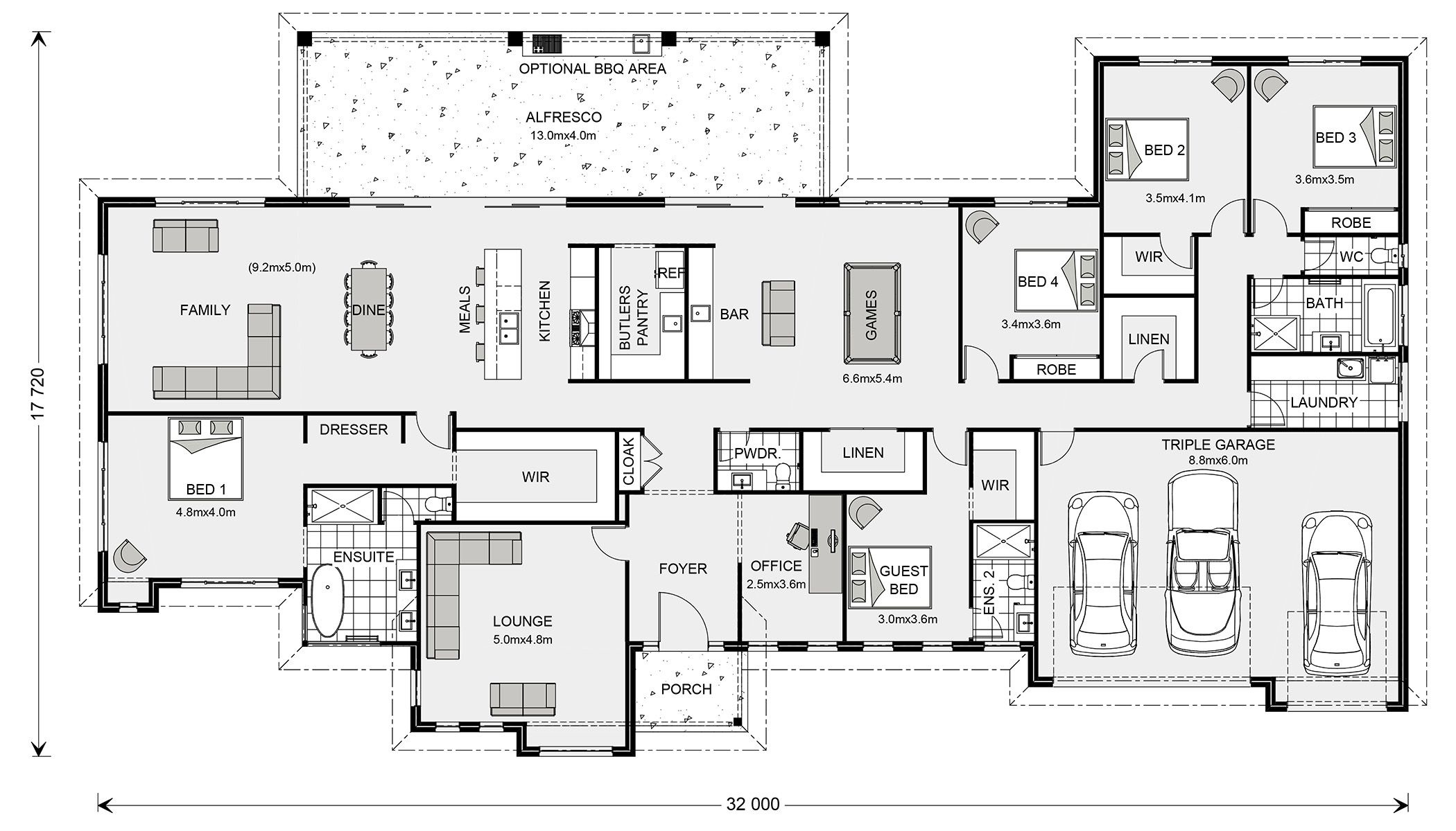 Floor Plan | SINGLE STORY HOUSE PLANS | Pinterest | Melbourne, House ...