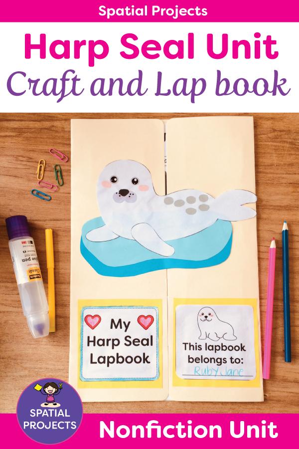 All About Harp Seals Nonfiction Unit Lap book templates