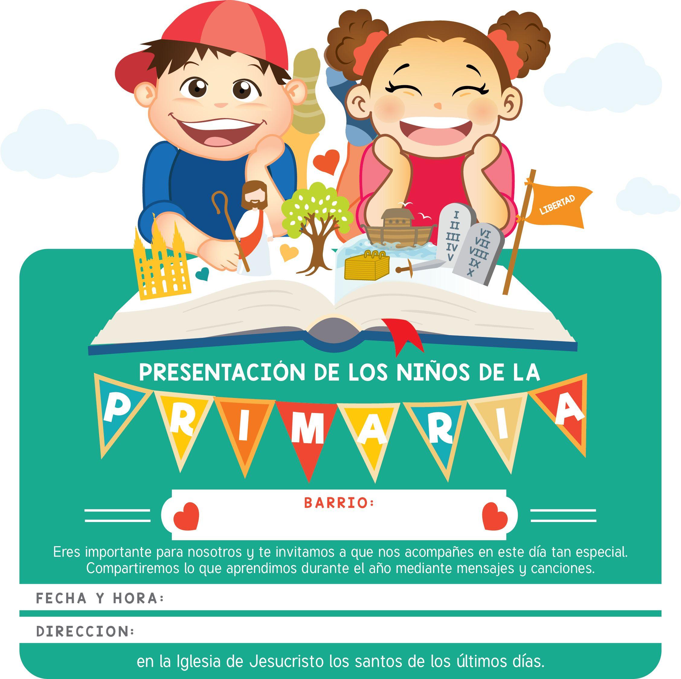 Template de Invitación para la PRESENTACION DE LA PRIMARIA ...