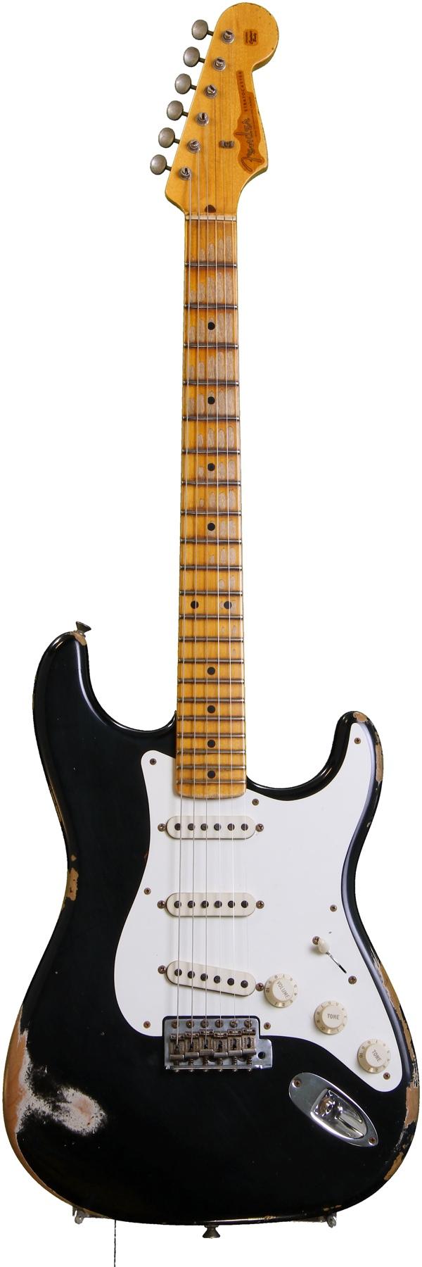 Fender Custom Shop 1956 Heavy Relic Strat - Black Ice | Sweetwater.com