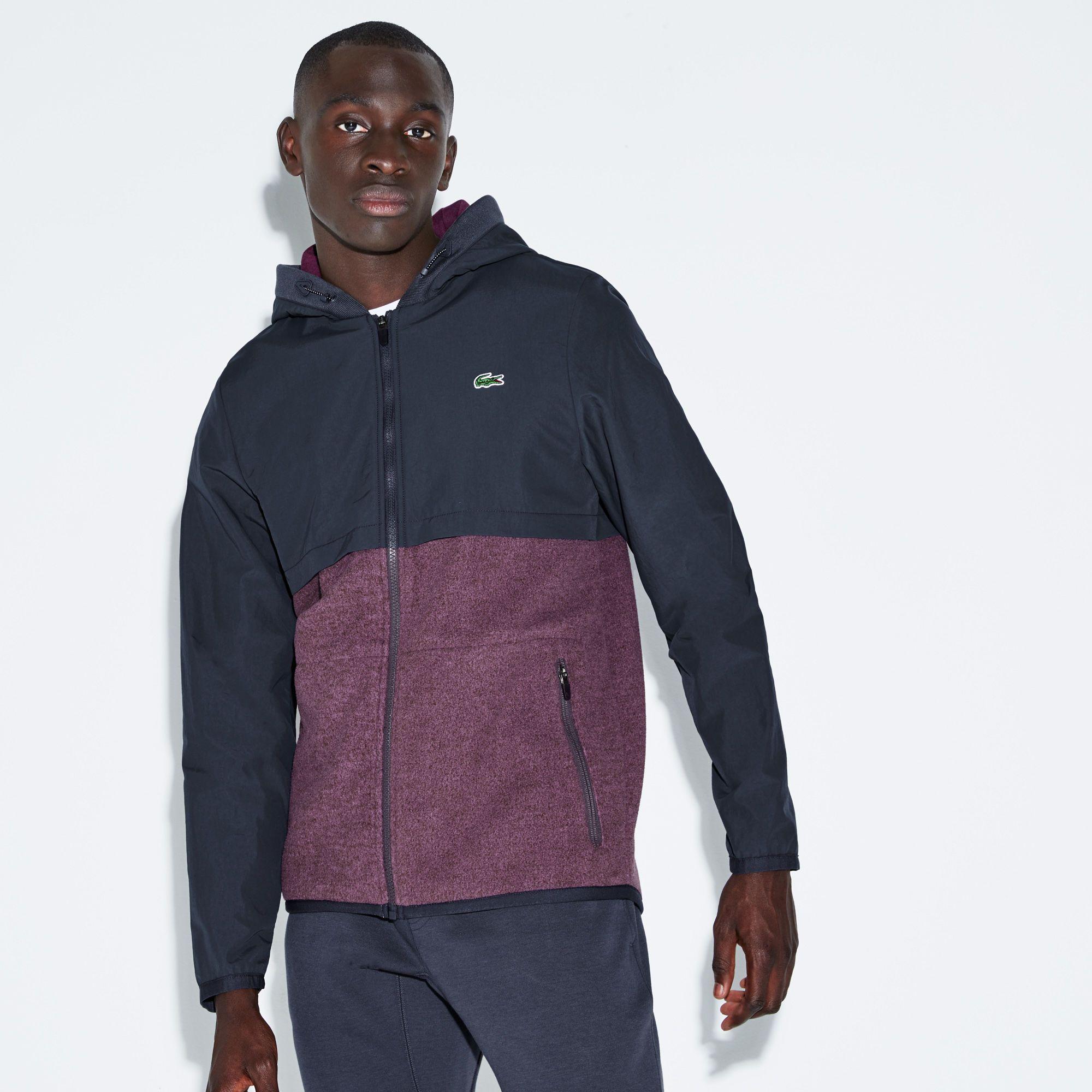 NEW Lacoste Men's Sport Hooded Zippered Water Resistant Tennis Rain Jacket
