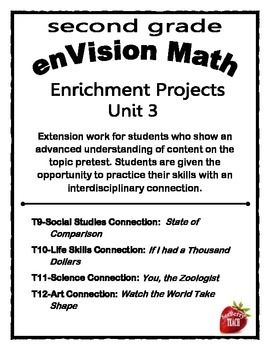 Enrichment Project Packet Unit 3 enVision Math 2nd grade