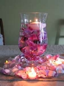 Hurricane Vase Centerpieces Wedding