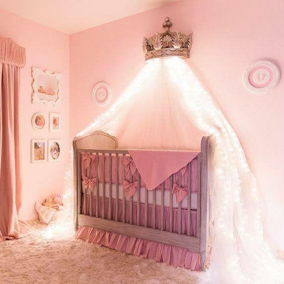 Schnullerkette mit Namen ★ MINI Prinzessin ★ Mädchen ★ Baby  ★ rosa Glitzer  ★