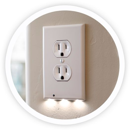 Turn any outlet into a night light or usb charger plays lights snappower guidelights from snappower functions like a standard night lightexcept that theres no plug and the receptacle plate cover is the light aloadofball Choice Image