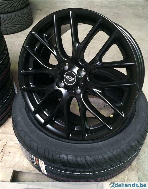Evr Mini Cooper Works S Velgen Banden Black колеса диски