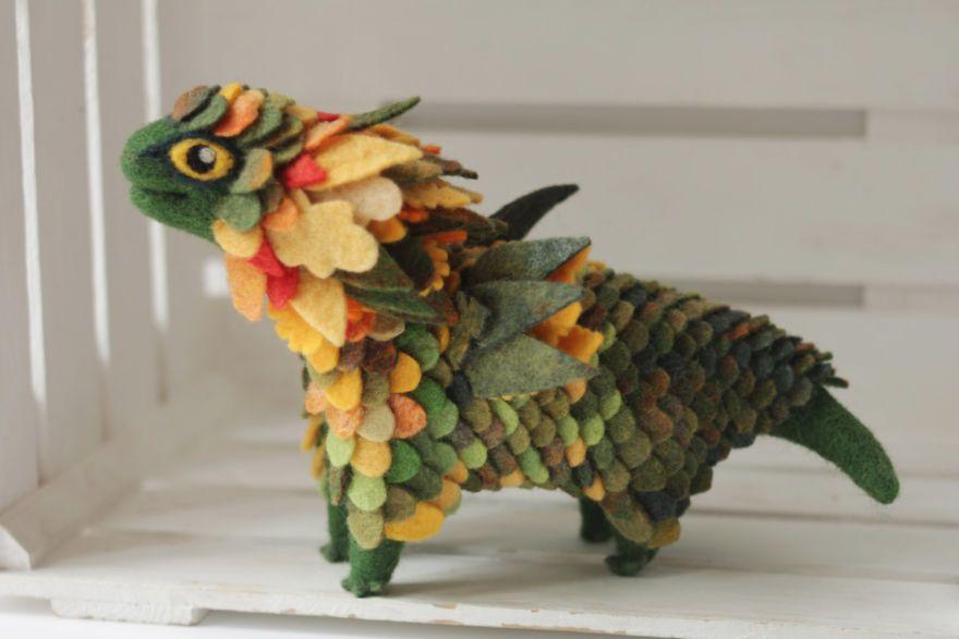Felted-dragons-alena-bobrova #feltdragon