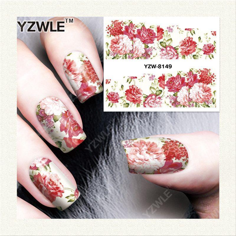 Yzwle 1 Sheet Diy Designer Water Transfer Nails Art Sticker Nail
