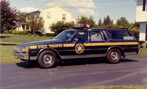 New York State Police 1987 Chevy Station Wagon Police Cars