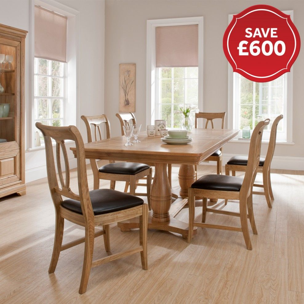 Toulon Oak Dining Table Chairs Buy Tables Online At Ponsford Sheffield