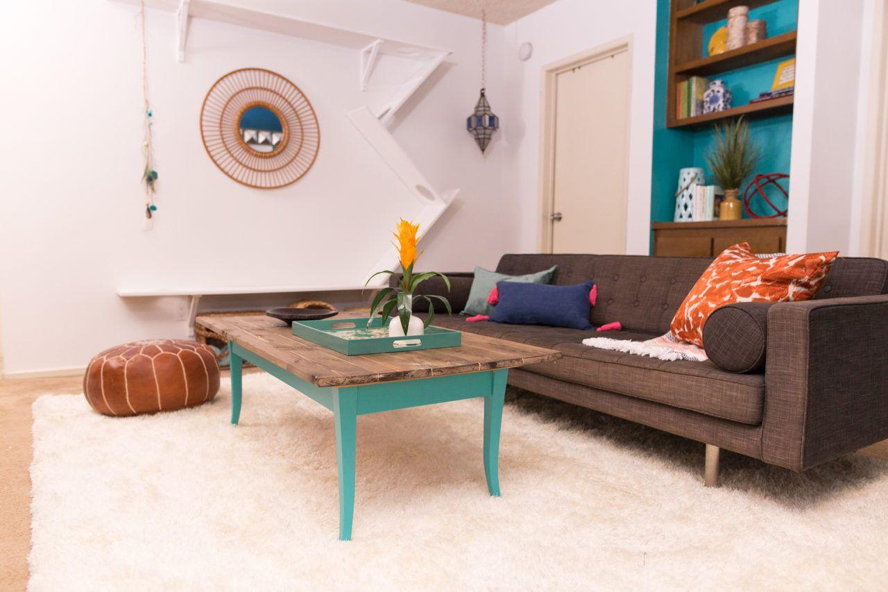 Diy upcycled bohemian coffee table coffee table living