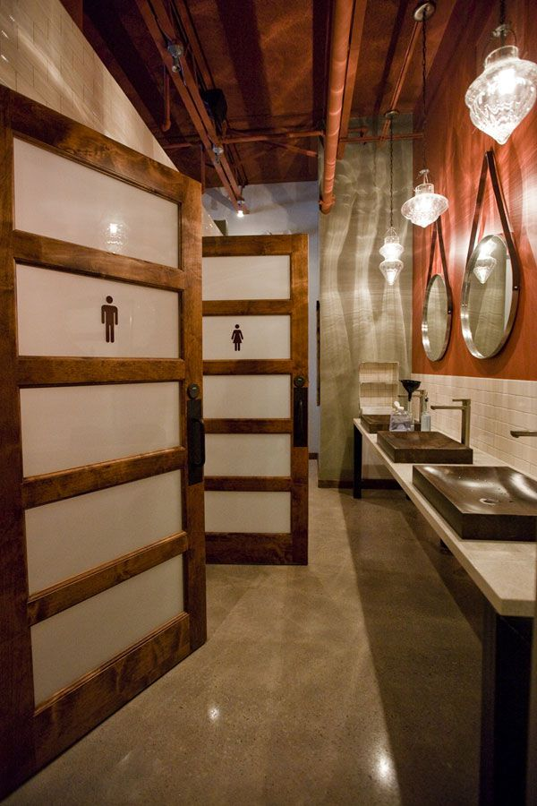 Unisex Bathroom Retail And Restaurant Restaurant