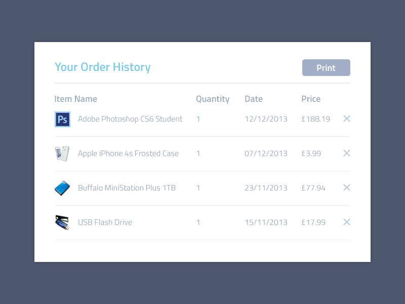 history of ui design 11 best Order history images on Pinterest | App design, Application ...