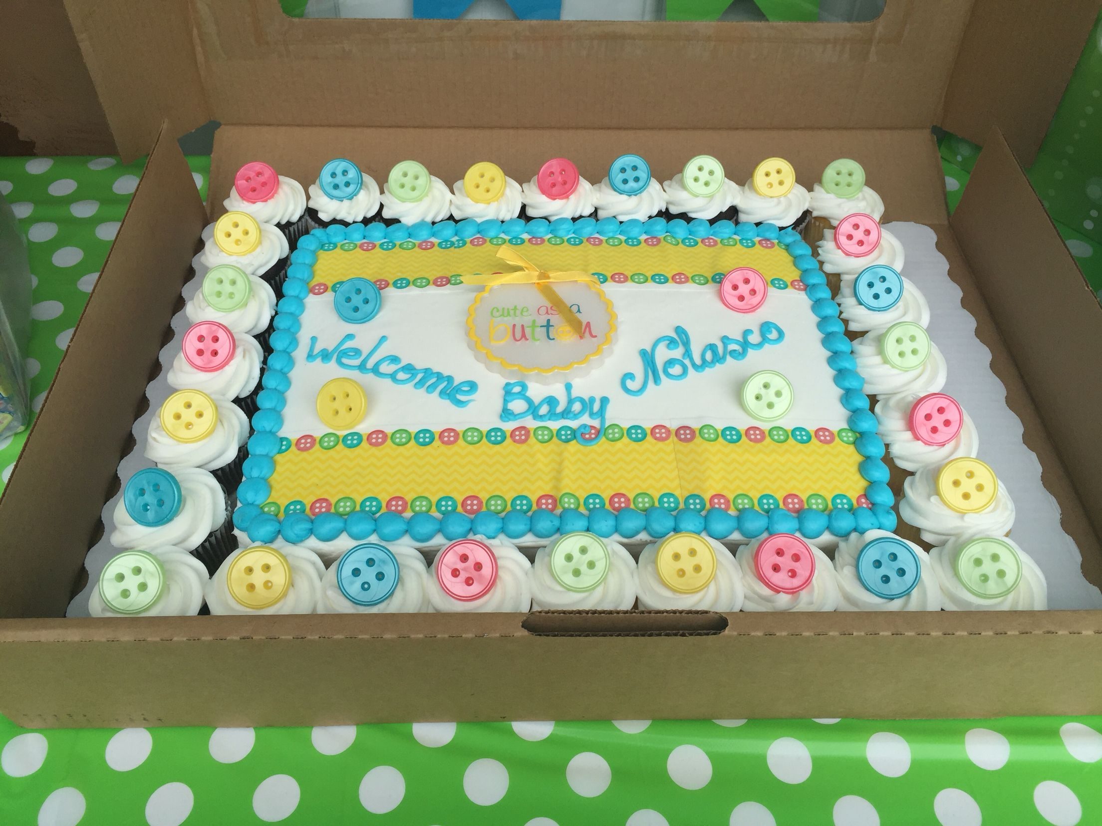 Babyshower Cake And Cupcake Combo Available At Sams Club