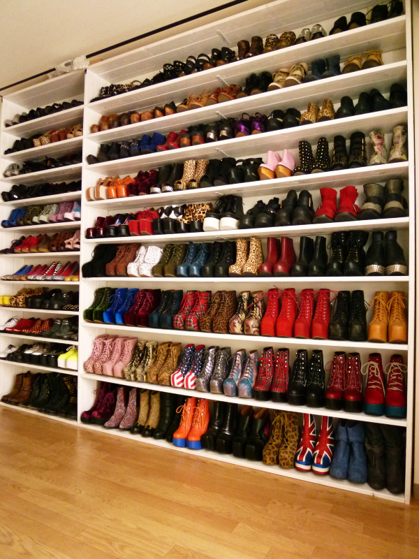 Just A Few More Pairs Of Shoes And I Could Potentionally Have A Closet Like  This