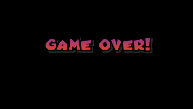 The Game Over Screen From New Super Mario Bros Wii Super Mario Bros Game Over Screen Super Mario