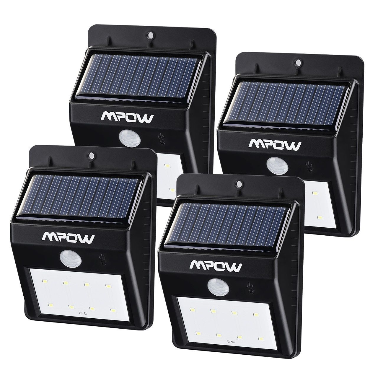 Mpow solar powered wireless security motion sensor light outdoor 8 mpow solar powered wireless security motion sensor light outdoor 8 led bulb lamp aloadofball Image collections