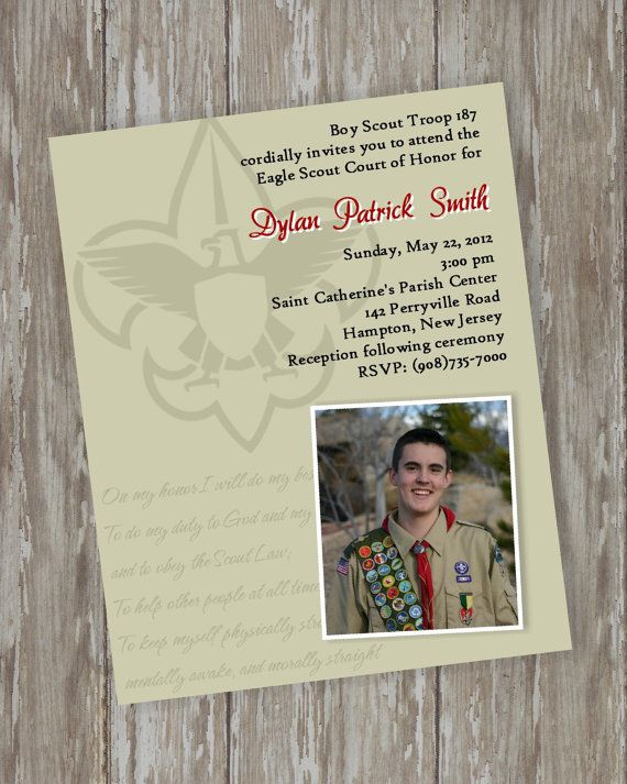 Eagle Scout InvitationsScouts Honor  khaki by ItsAllAboutTheCards, $15.00