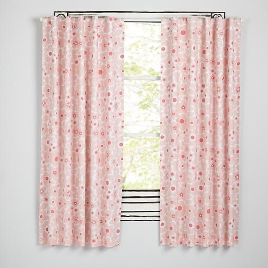 Lovely Go Lightly Pink Floral Blackout Curtains