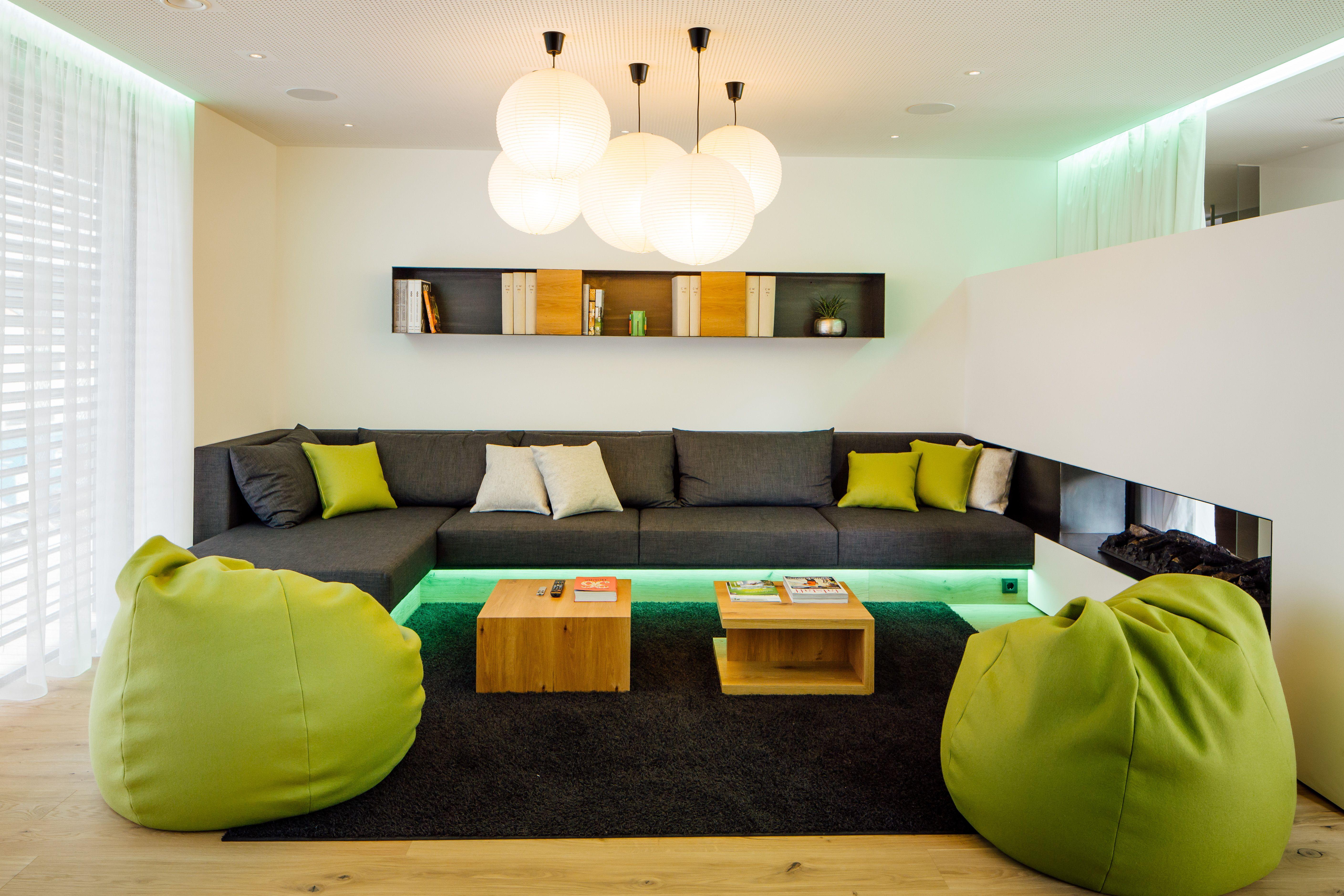 Lounge Bereich des ersten smarten Showhomes Europas. #showhome ...