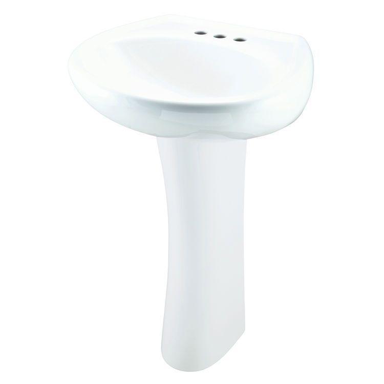 Gerber 22 504 Maxwell 4 Centers Petite Pedestal Bathroom Sink Pedestalbathroomsinks With Images Bathroom Sink Bathroom Accessories Luxury Sink