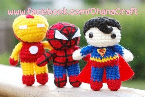Amigurumi Spiderman Patron : Mini Super Heroes Crochet Amigurumi PDF by ...