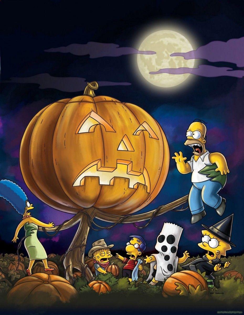 La calabaza gigante de Halloween Imágenes de los simpson