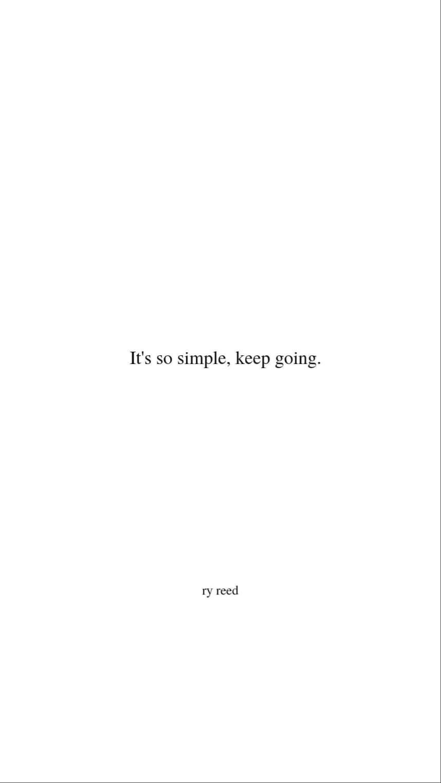 it's so simple