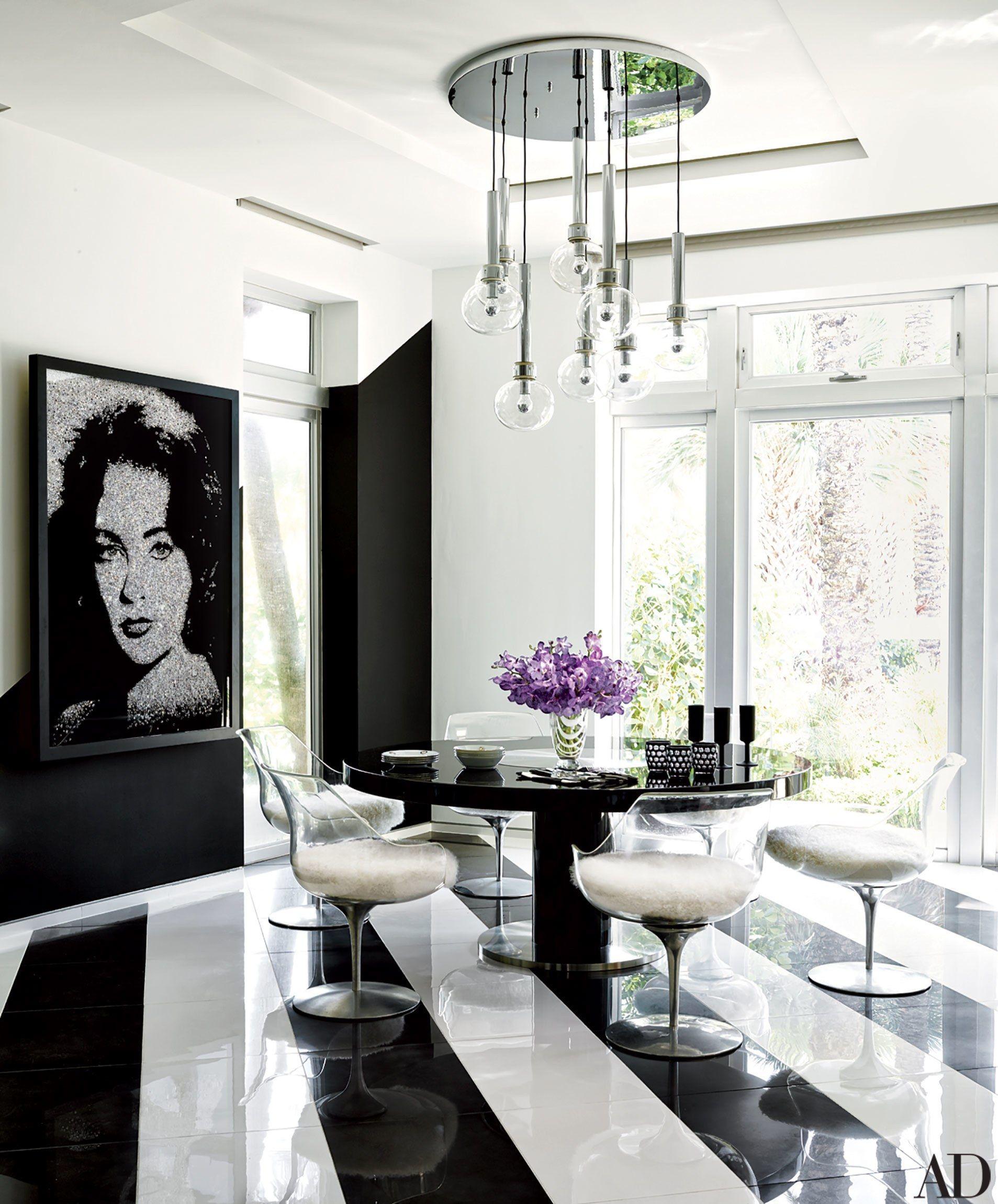 Fashion Designer Tommy Hilfigeru0027s Vibrant Home In Miami. Miami HomesTommy  HilfigerWhite Dining RoomsBlack ...