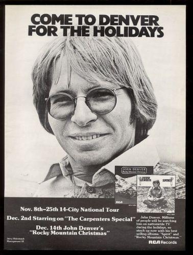 1976-John-Denver-BIG-photo-Rocky-Mountain-Christmas-album-release ...