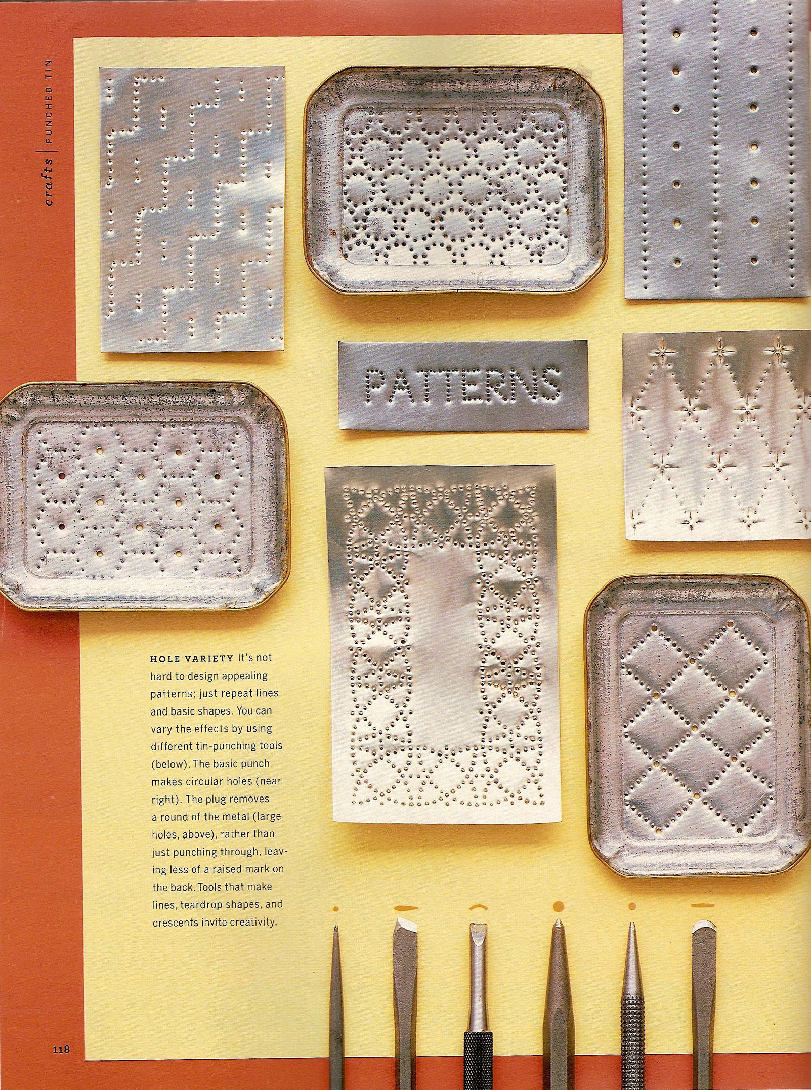 Martha Stewart Living Punched Tin Story November 2003 By Lauren Potter At Coroflot Com Aluminum Can Crafts Tin Foil Art Tin Can Art