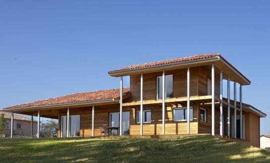 maison-bois-colonne-traditionbois Maison en bois Pinterest